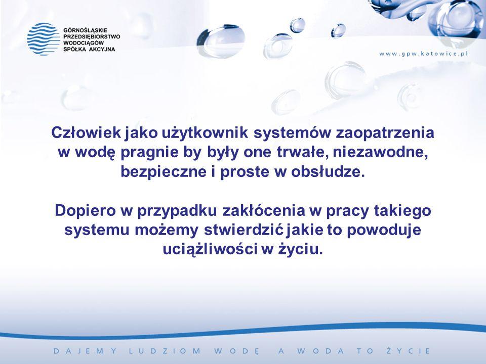 Człowiek jako użytkownik systemów zaopatrzenia w wodę pragnie by były one trwałe, niezawodne, bezpieczne i proste w obsłudze. Dopiero w przypadku zakł