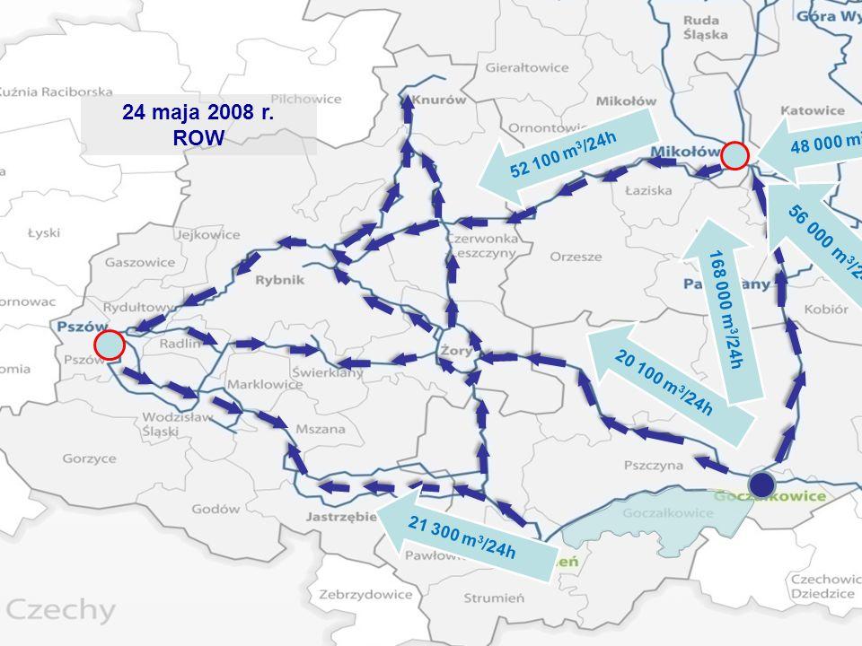 24 maja 2008 r. ROW 21 300 m 3 /24h 20 100 m 3 /24h 52 100 m 3 /24h 168 000 m 3 /24h 56 000 m 3 /24h 48 000 m 3 /24h
