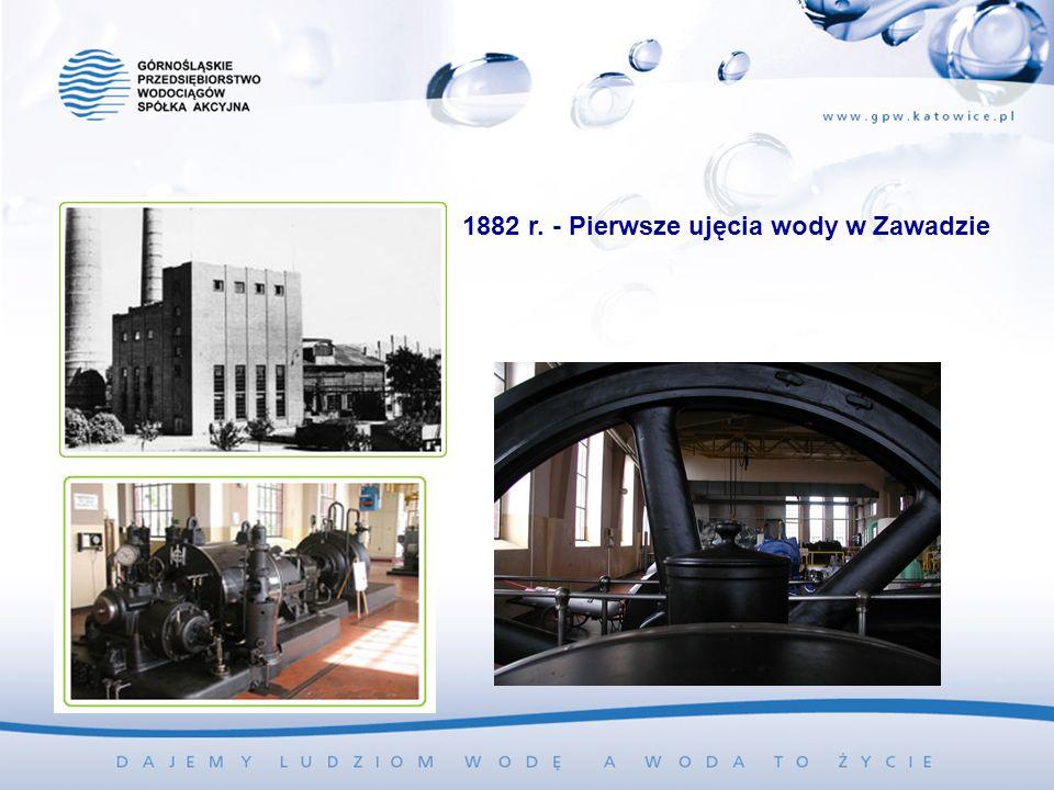 1882 r. - Pierwsze ujęcia wody w Zawadzie