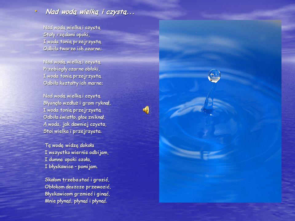 WODA w POEZJI WATER IN POETRY