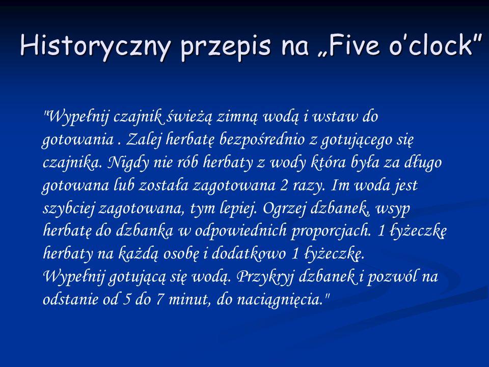Historyczny przepis na Five oclock