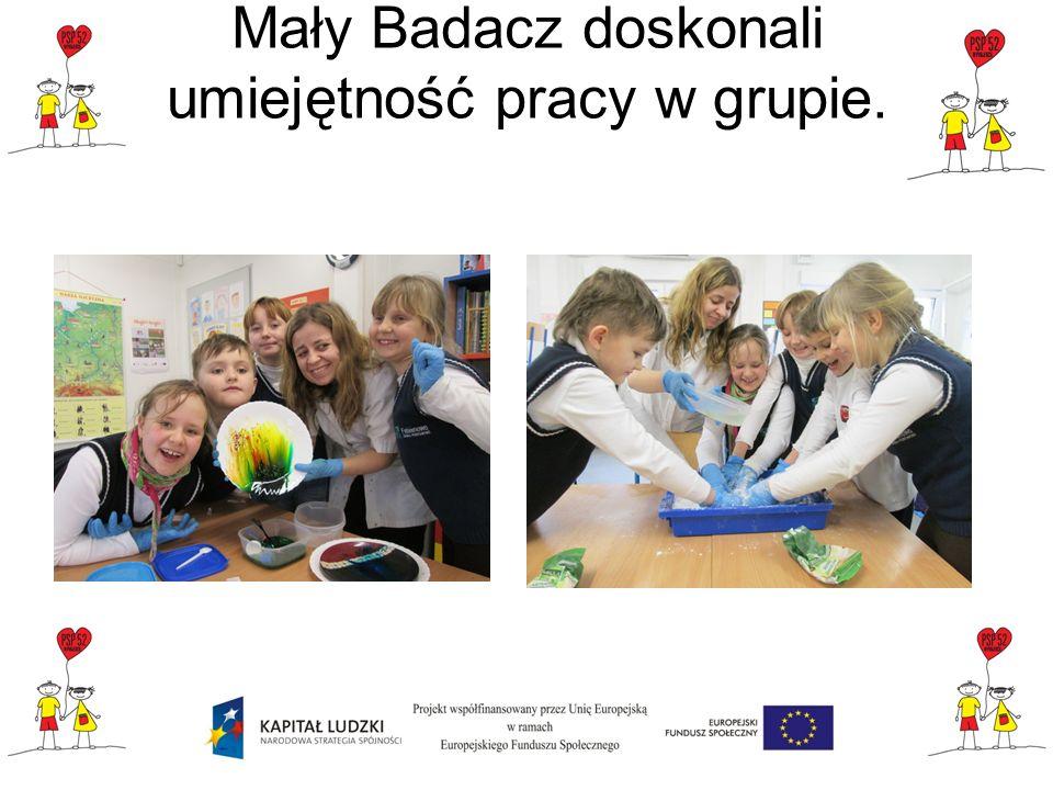 Podsumowanie projektu Mali Badacze Mali Badacze w wykonali dużo ciekawych eksperymentów wyjaśniających różne zjawiska chemiczne, fizyczne i biologiczne z którymi uczniowie spotykają się na co dzień.