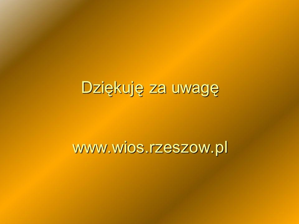 Dziękuję za uwagę www.wios.rzeszow.pl