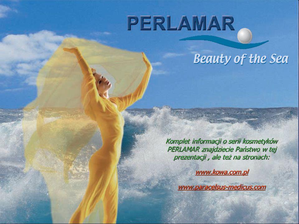 Komplet informacji o serii kosmetyków PERLAMAR znajdziecie Państwo w tej prezentacji, ale też na stronach: www.kowa.com.pl www.paracelsus-medicus.com