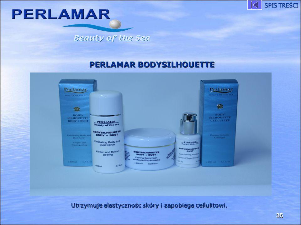 35 PERLAMAR BODYSILHOUETTE Utrzymuje elastycznośc skóry i zapobiega cellulitowi. SPIS TREŚCI