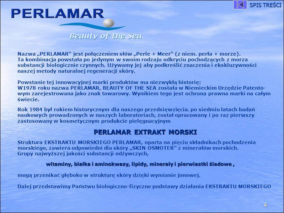 Nazwa PERLAMAR jest połączeniem słów Perle + Meer (z niem. perła + morze). Ta kombinacja powstała po jedynym w swoim rodzaju odkryciu pochodzących z m