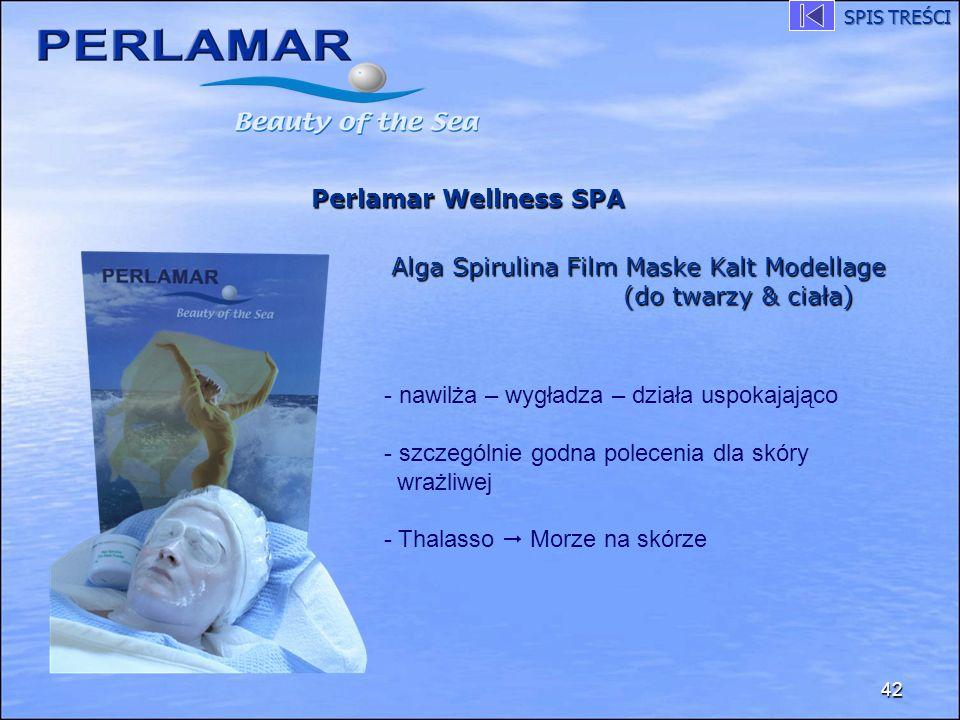 42 Perlamar Wellness SPA Alga Spirulina Film Maske Kalt Modellage (do twarzy & ciała) - nawilża – wygładza – działa uspokajająco - szczególnie godna p