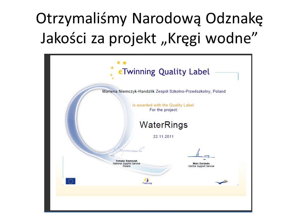 Otrzymaliśmy Narodową Odznakę Jakości za projekt Kręgi wodne