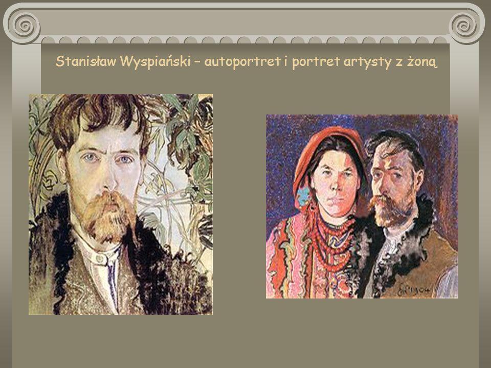 Afisz teatralny prapremiery Wesela oraz szkic scenografii Wesela.