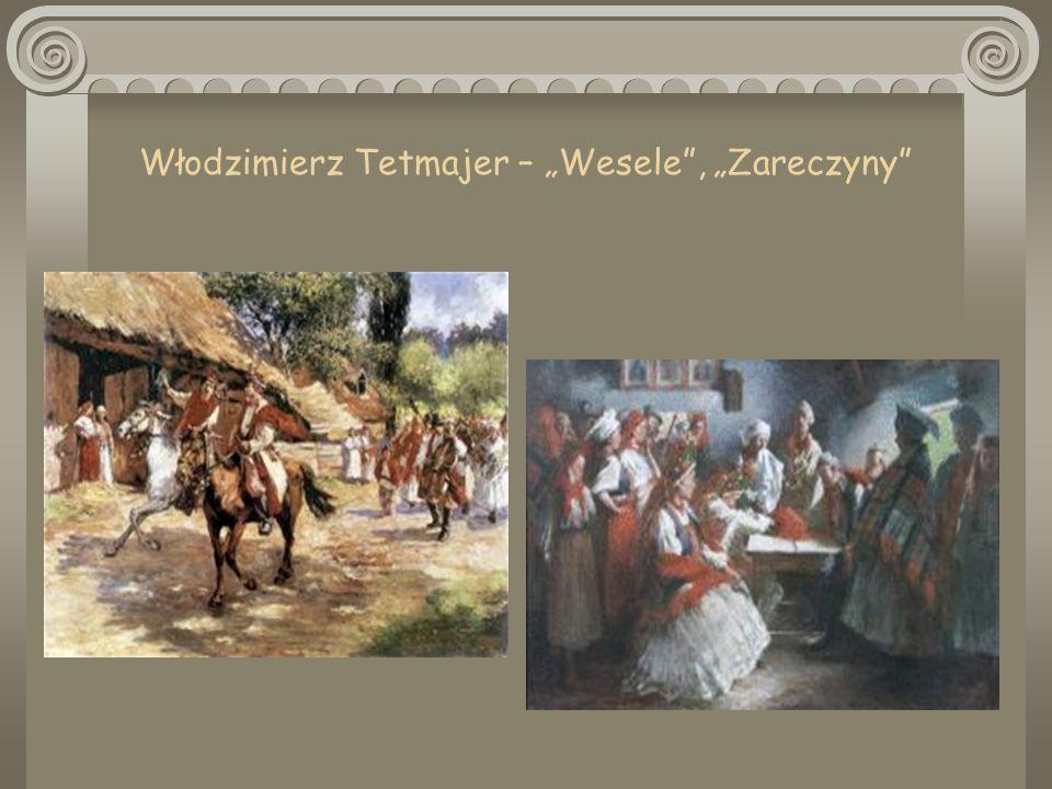 OSOBY: (goście z Krakowa) Zosia i Maryna – Pareńskie, znajome Wyspiańskiego; Haneczka – siostra Lucjana Rydla; Radczyni – Antonina Domańska, ciotka Rydla; Poeta – Kazimierz Przerwa-Tetmajer, przyrodni brat Włodzimierza, poeta dekadent; Dziennikarz – Rudolf Starzewski, redaktor krakowskiego Czasu; POSTACI SYNTETYCZNE: Czepiec – Błażej Czepiec, wuj Jadwigi, wiejski pisarz gminny, w dramacie reprezentant chłopstwa; Nos – nosi cech postaci z krakowskiego środowiska cyganerii; Rachela – Pepa Singer, piętnastoletnia córka żydowskiego karczmarza z Bronowic, kształcona w Krakowie.