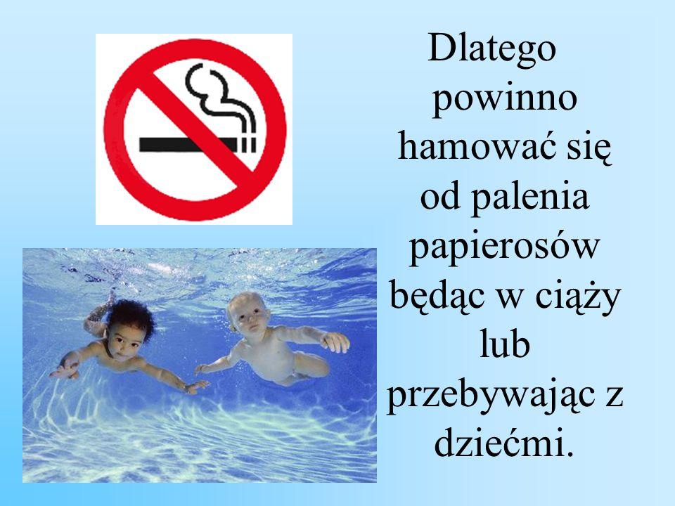 Dlatego powinno hamować się od palenia papierosów będąc w ciąży lub przebywając z dziećmi.