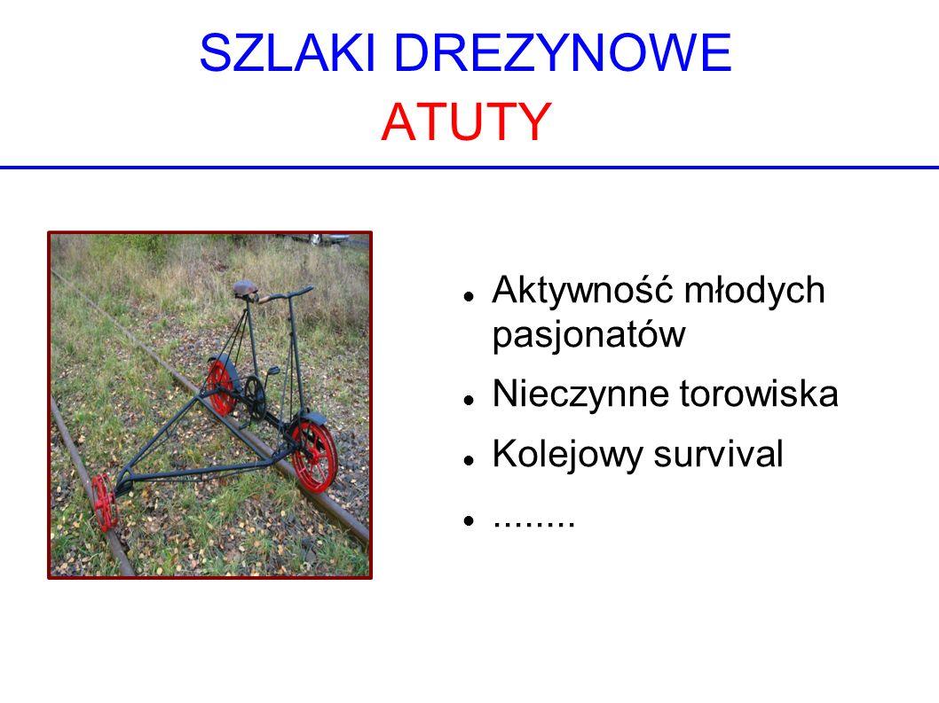 SZLAKI DREZYNOWE ATUTY Aktywność młodych pasjonatów Nieczynne torowiska Kolejowy survival........