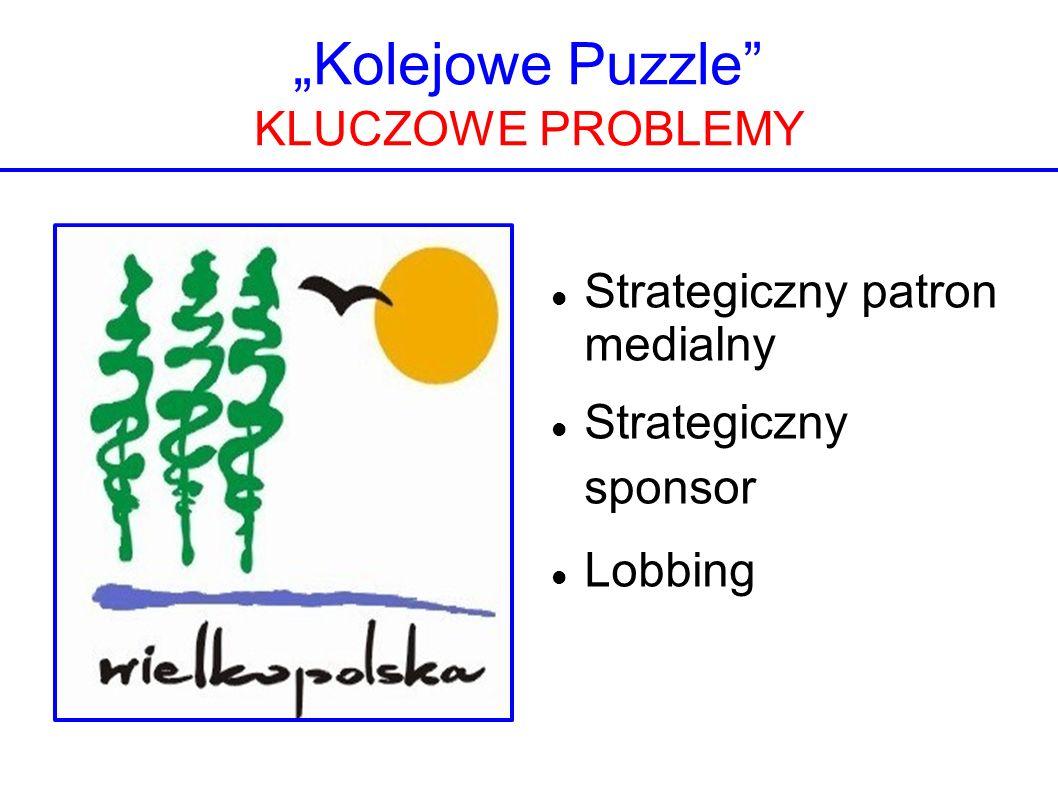 Kolejowe Puzzle KLUCZOWE PROBLEMY Strategiczny patron medialny Strategiczny sponsor Lobbing