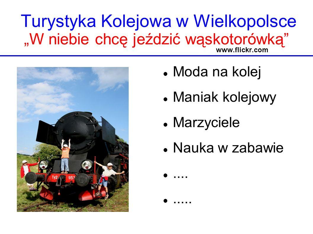 Turystyka Kolejowa w Wielkopolsce W niebie chcę jeździć wąskotorówką www.flickr.com Moda na kolej Maniak kolejowy Marzyciele Nauka w zabawie.........