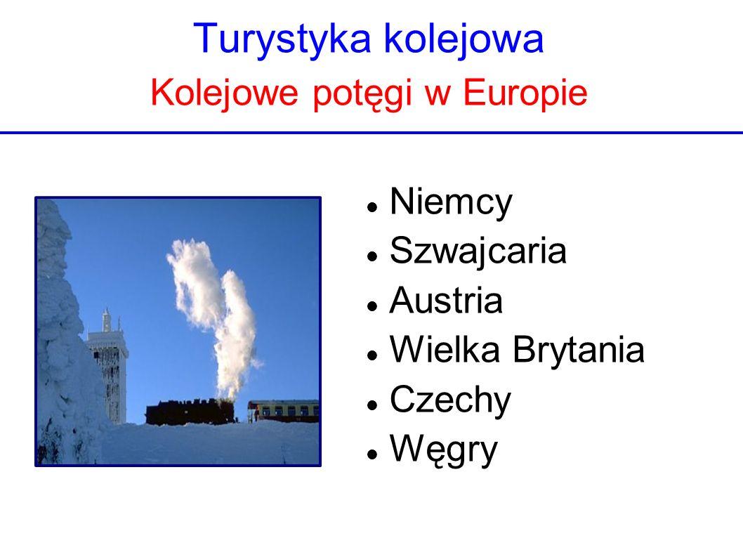 Turystyka kolejowa Kolejowe potęgi w Europie Niemcy Szwajcaria Austria Wielka Brytania Czechy Węgry