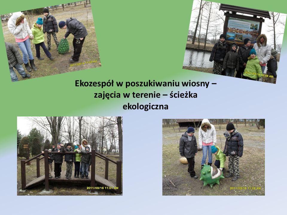 Ekozespół w poszukiwaniu wiosny – zajęcia w terenie – ścieżka ekologiczna