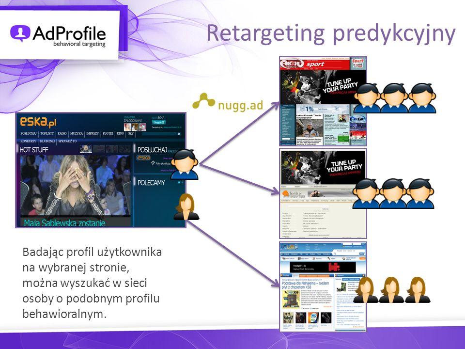 Badając profil użytkownika na wybranej stronie, można wyszukać w sieci osoby o podobnym profilu behawioralnym. Retargeting predykcyjny