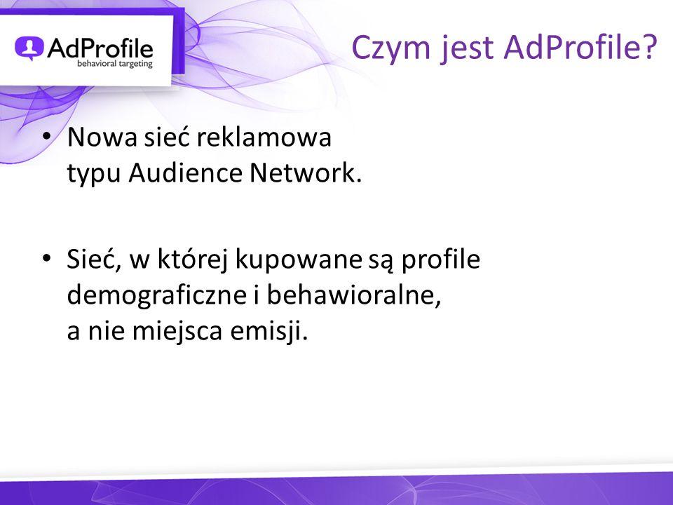 Czym jest AdProfile.Audience Network AdProfile to sieć typu audience network.