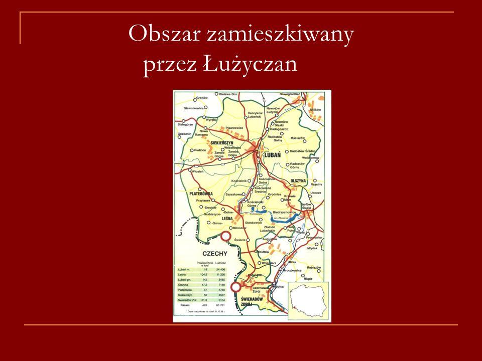 Obszar zamieszkiwany przez Łużyczan