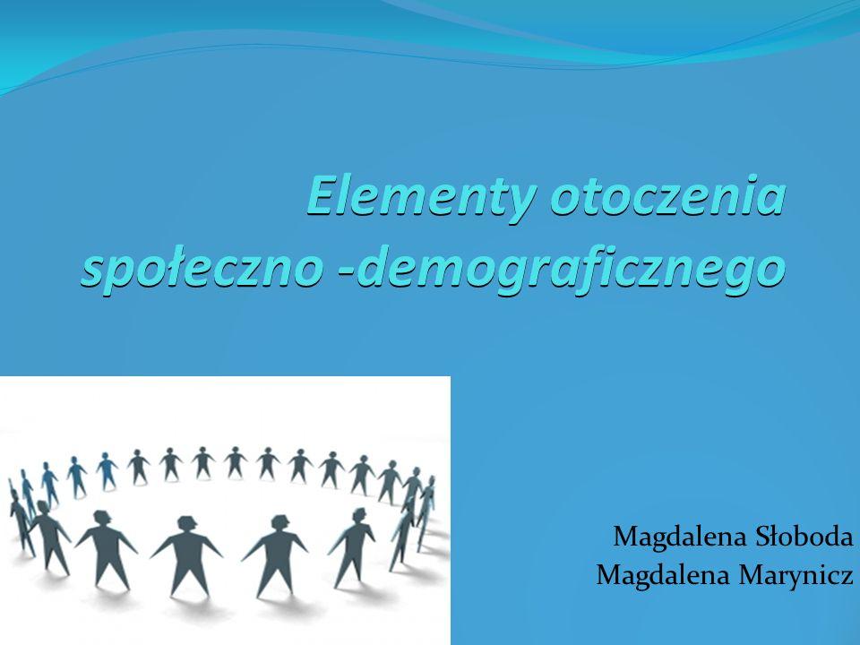 Elementy otoczenia społeczno -demograficznego Magdalena Słoboda Magdalena Marynicz