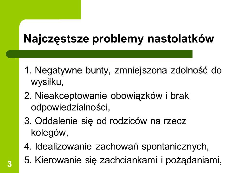 3 1.Negatywne bunty, zmniejszona zdolność do wysiłku, 2.