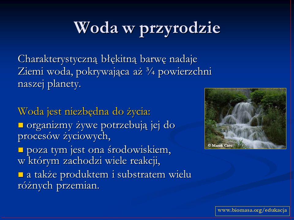 Woda w życiu człowieka Człowiek nie mógłby żyć bez wody.