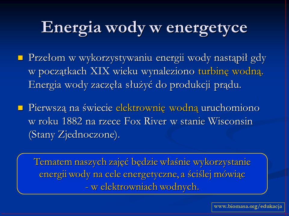 Podsumowanie O wykorzystaniu odnawialnych źródeł energii, w tym energii wody mówi się w ostatnich czasach dużo.