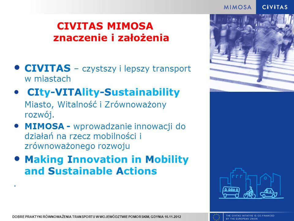 DOBRE PRAKTYKI RÓWNOWAŻENIA TRANSPORTU W WOJEWÓDZTWIE POMORSKIM, GDYNIA 16.11.2012 EDUKACJA Akcje: Piesze autobusy (6 szkół, 720 uczniów, 1 rowerowy autobus) Pieszy tydzień; (6 szkół, 1000 uczestników) Kampania medialna: Wróć bezpiecznie ze szkoły; Dziecko bezpieczne na drodze Konkursy & materiały edukacyjne: Vademecum Rowerzysty; Opaski i kamizelki odblaskowe; Konkurs plastyczny Mądry transport – lepsze życie promujący chodzenie i zrównoważone środki transportu;