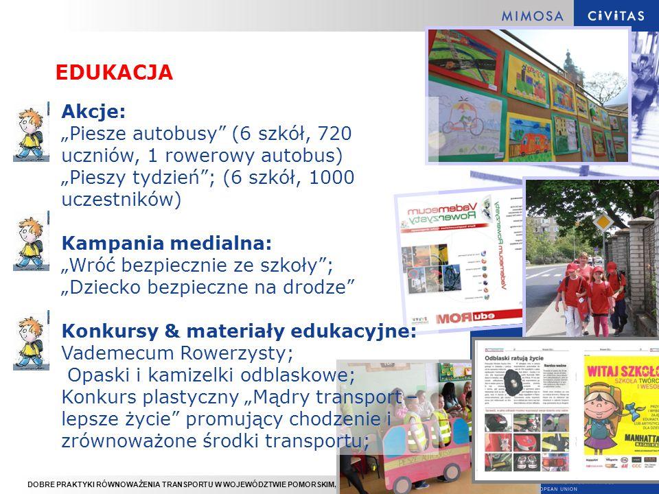 DOBRE PRAKTYKI RÓWNOWAŻENIA TRANSPORTU W WOJEWÓDZTWIE POMORSKIM, GDYNIA 16.11.2012