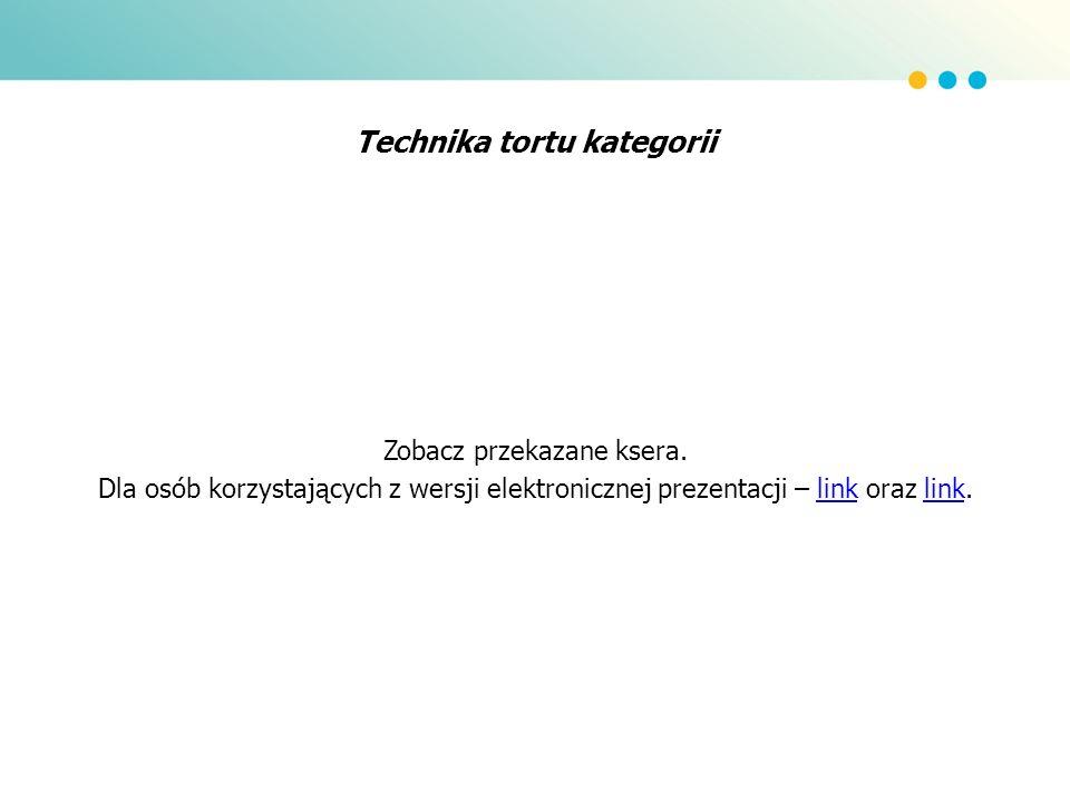 Technika tortu kategorii Zobacz przekazane ksera. Dla osób korzystających z wersji elektronicznej prezentacji – link oraz link.link