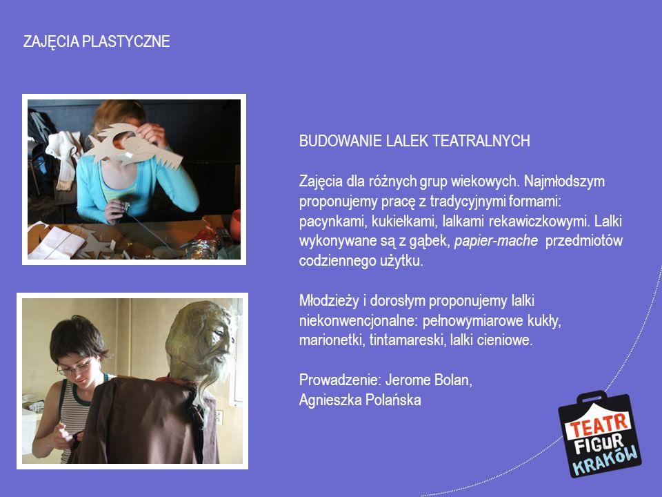 ZAJĘCIA PLASTYCZNE CHARAKTERYZACJA Zajecia dla instruktorów teatralnych, nauczycieli, zespołów amatorskich i profesjonalnych.