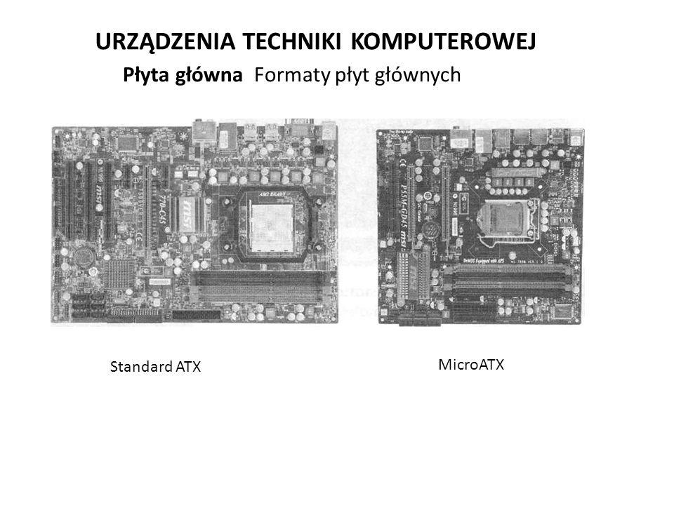 URZĄDZENIA TECHNIKI KOMPUTEROWEJ Płyta główna Formaty płyt głównych Standard ATX MicroATX
