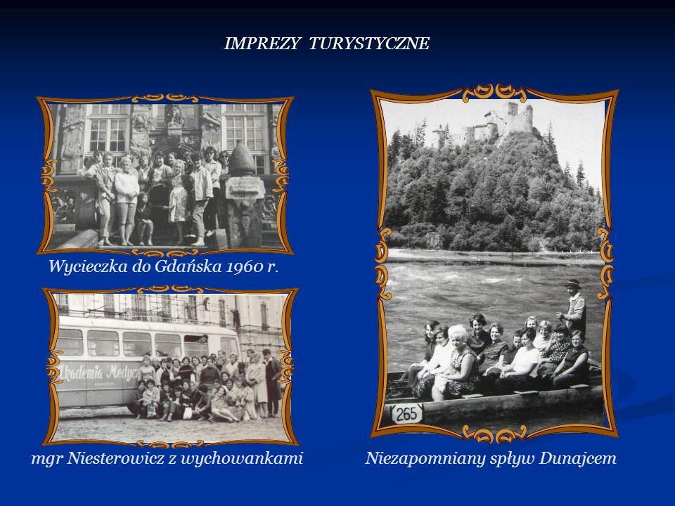Wycieczka do Gdańska 1960 r. Niezapomniany spływ Dunajcemmgr Niesterowicz z wychowankami IMPREZY TURYSTYCZNE