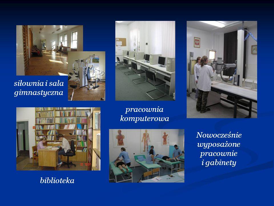 siłownia i sala gimnastyczna pracownia komputerowa biblioteka Nowocześnie wyposażone pracownie i gabinety