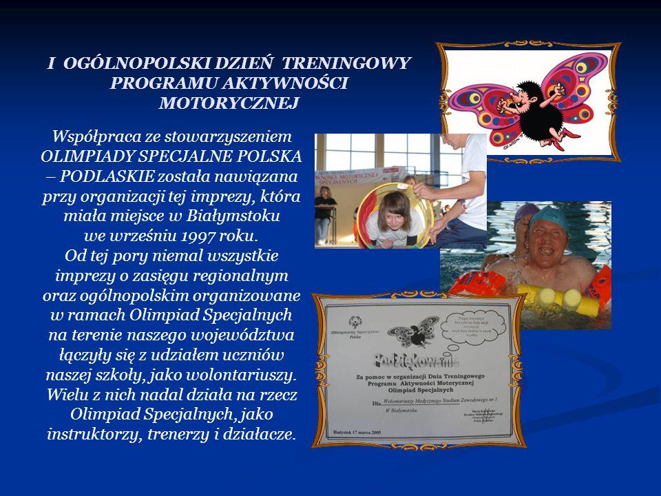 Współpraca ze stowarzyszeniem OLIMPIADY SPECJALNE POLSKA – PODLASKIE została nawiązana przy organizacji tej imprezy, która miała miejsce w Białymstoku