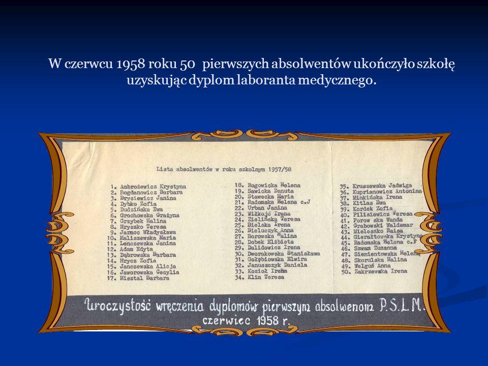 W kolejnym roku szkolnym dyplom z rąk dyrektora Szkoły odebrała Halina Gościk - przyszły dyrektor Szkoły.
