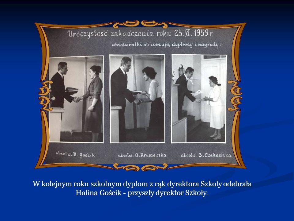 W kolejnych latach : 1980/81 – 102 słuchaczy oddało 21,9 litra kwi 1981/82 – oddano łącznie 24 520 ml 1982/83 – 171 słuchaczy podarowało 35 520 mililitrów krwi 1984/85 – 96 osób oddało 13 720 ml 1987/88 – 61 uczniów oddało 13 000 ml krwi 1989/90 – 19 osób oddało 3800 mililitrów W ramach Dni Honorowego Krwiodawstwa w listopadzie 1985 roku szkoła została odznaczona przez Zarząd Główny PCK jako Zasłużony Honorowy Dawca Krwi.