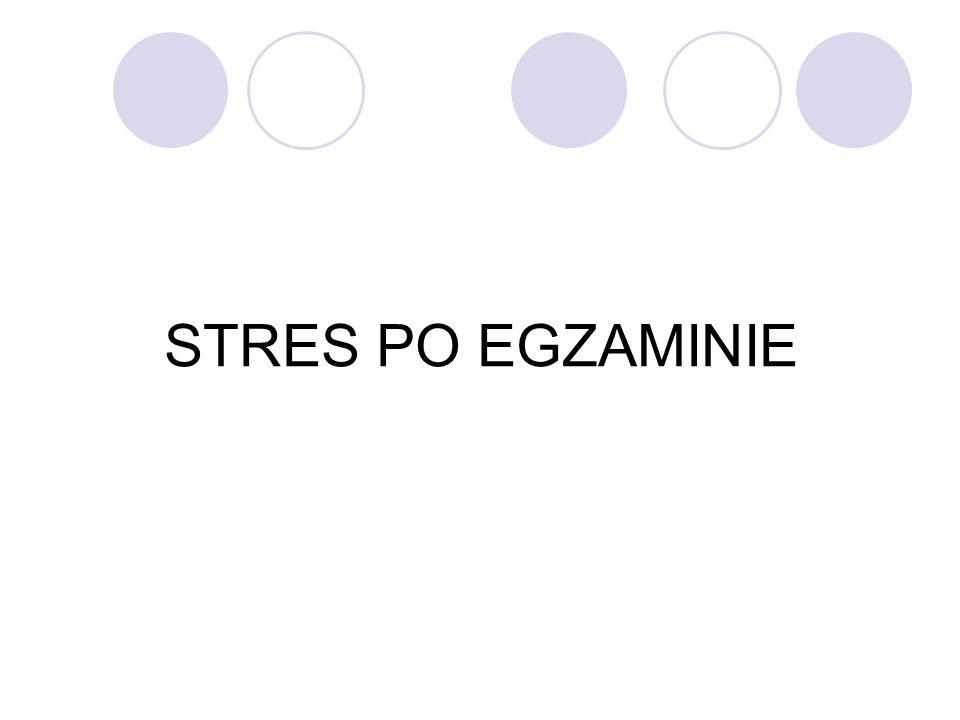 STRES PO EGZAMINIE