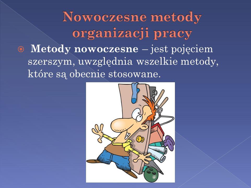Metody nowoczesne – jest pojęciem szerszym, uwzględnia wszelkie metody, które są obecnie stosowane.