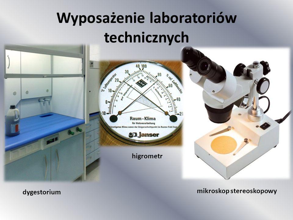 dygestorium higrometr mikroskop stereoskopowy