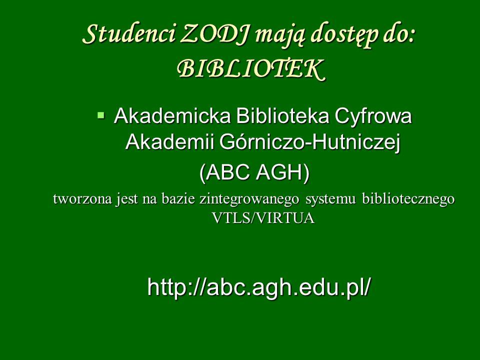 Akademicka Biblioteka Cyfrowa Akademii Górniczo-Hutniczej Akademicka Biblioteka Cyfrowa Akademii Górniczo-Hutniczej (ABC AGH) tworzona jest na bazie z
