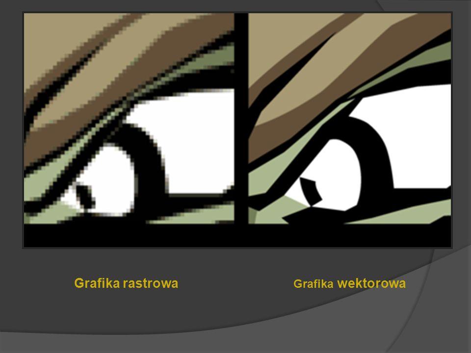 Klasyfikacja Poni eważ celem grafiki jest generowanie obrazów, dlatego jednym z głównych kryteriów klasyfikacji jest technika ich tworzenia: Grafika w