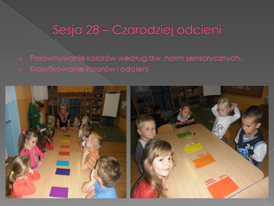Porównywanie kolorów według tzw. norm sensorycznych, Klasyfikowanie kolorów i odcieni