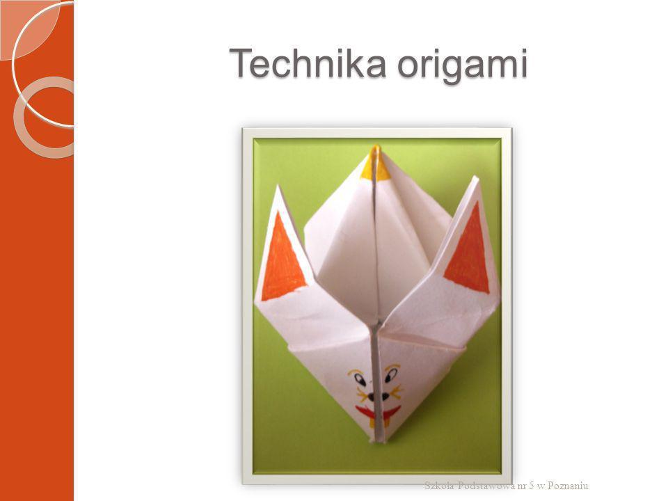 Technika origami Szkoła Podstawowa nr 5 w Poznaniu