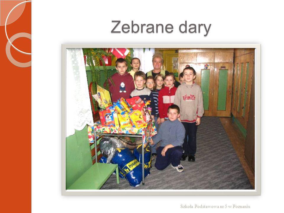Zebrane dary Szkoła Podstawowa nr 5 w Poznaniu