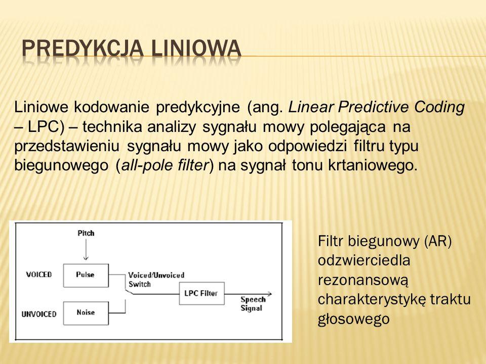 Liniowe kodowanie predykcyjne (ang. Linear Predictive Coding – LPC) – technika analizy sygnału mowy polegająca na przedstawieniu sygnału mowy jako odp