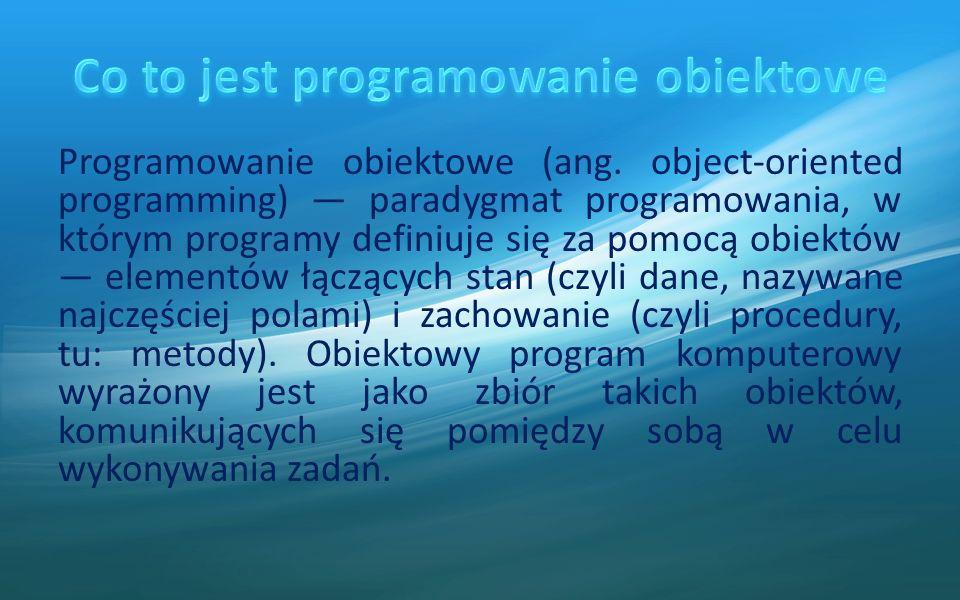 Programowanie obiektowe (ang.