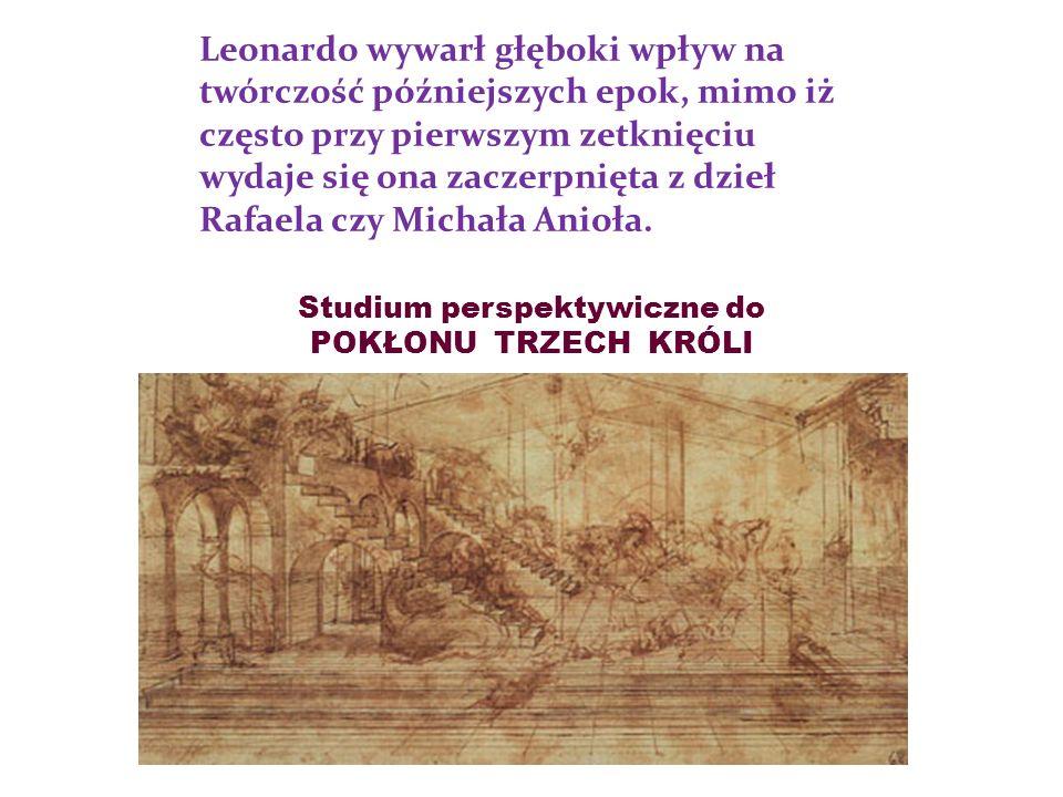 Leonardo wywarł głęboki wpływ na twórczość późniejszych epok, mimo iż często przy pierwszym zetknięciu wydaje się ona zaczerpnięta z dzieł Rafaela czy