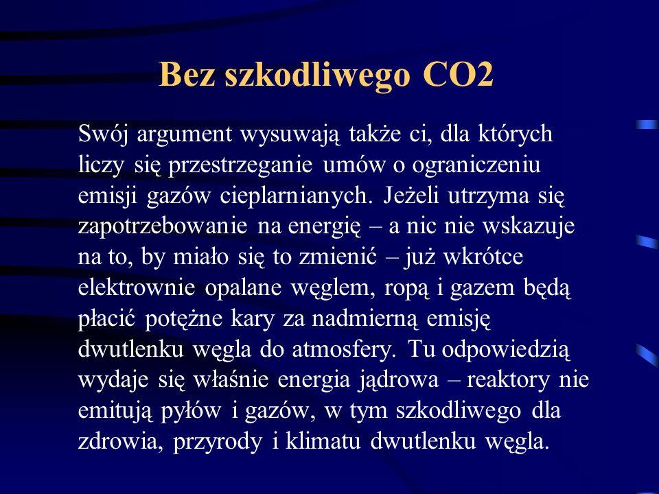 Bez szkodliwego CO2 Swój argument wysuwają także ci, dla których liczy się przestrzeganie umów o ograniczeniu emisji gazów cieplarnianych. Jeżeli utrz