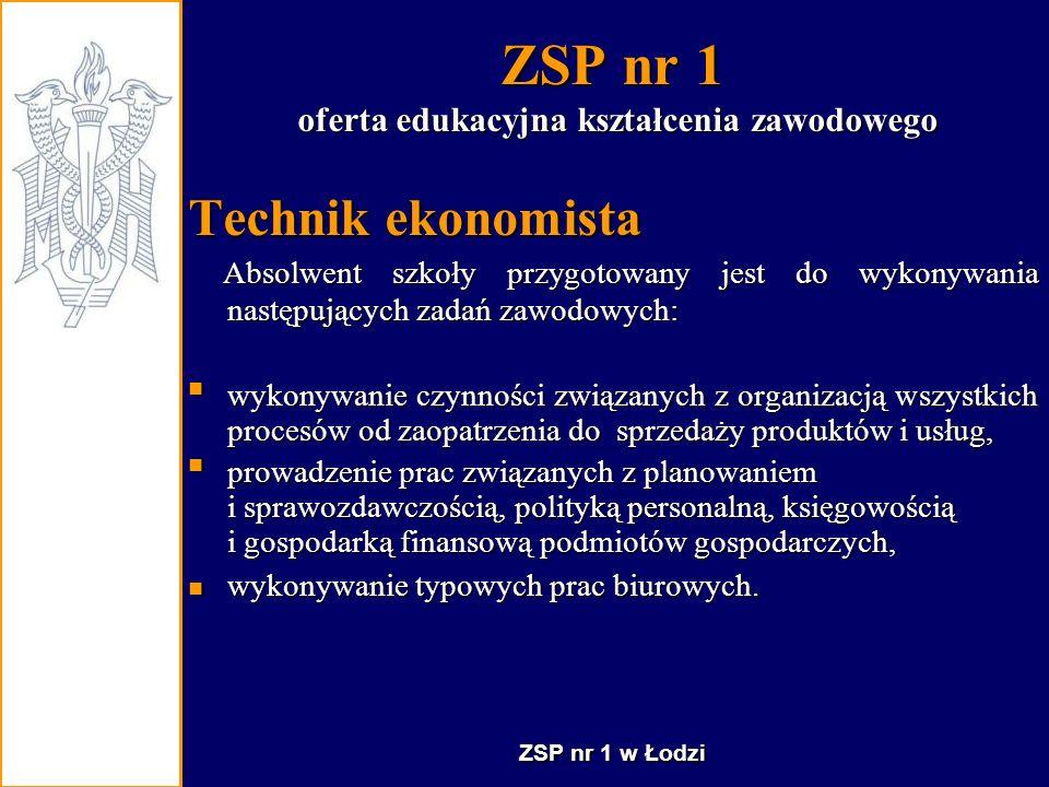 ZSP nr 1 - Technik hotelarstwa - inicjatywy Centrum obsługi imprez szkolnych i nie tylko….., powstało z chwilą utworzenia w szkole technikum hotelarskiego.